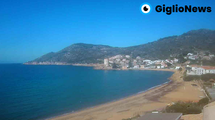 webcam giglio campese spiaggia panoramica